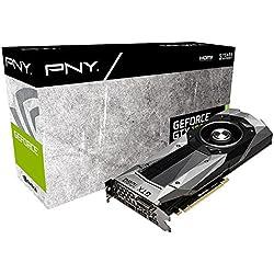 PNY GeForce NVidia GTX 1080 Scheda Grafica, 8 GB, GDDR5X, 1607 MHz, DX12, 256 Bit, Nero/Argento, Founders Edition