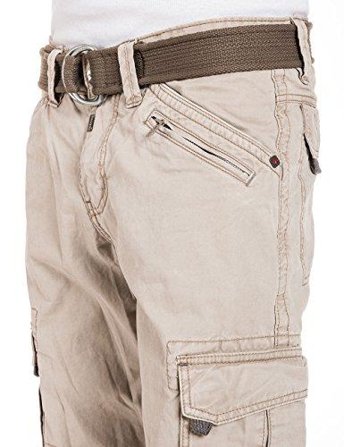 Timezone Herren Relaxed Hose BenitoTZ cargo pants incl. belt Beige (nature beige 6122)