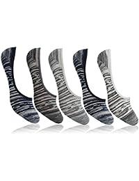 Supersox Men's Loafer Anti Slip No Show Socks - Pack of 5