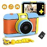 Xddias Kinderkamera, Wiederaufladbar Kamera für Kinder DigitalKamera mit 32GB SD Karte und 2,4'' Bildschirm, 24 Megapixel 1080p HD Digital Camcorder Spielzeug Geschenk für Maedchen Junge
