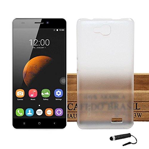 Tasche für Oukitel C3 Hülle, Ycloud Handy Backcover Kunststoff-Hard Shell Case Handyhülle mit stoßfeste Schutzhülle Smartphone Weiß Transparent