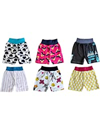 Lariyo Kid's Cotton Printed Double Color Trouser Underwear Combo pack of 6
