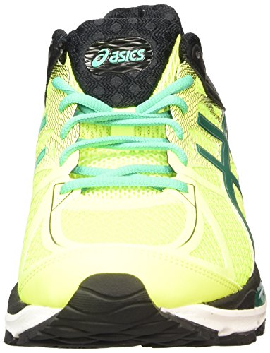 Asics Gel-Cumulus 17, Chaussures de Running Compétition Homme, Gris Jaune (flash Yellow/pine/black 0788)