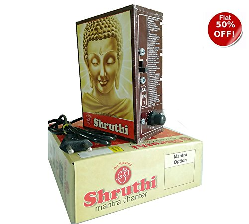 DEAL OF THE DAY !!! 54 in 1 Mantra Chanting sloka / divine voice,pooja chanting box, devotional songsSALE!DEAL OF THE DAY!!CHANTING BOX-Mantra Chanting Box – TODAY'S DEAL 54 DIVINE POWERFULL MANTRAS - TODAY'S DEAL-Rugged Metal Housing box - Shruthi Mantra Chanter - Effective For Meditation, Relaxation, Stress Reliever, yoga Etc..EZ203  available at amazon for Rs.675