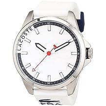 Lacoste 2010841 - Reloj analógico de pulsera con mecanismo de cuarzo para hombre (correa de silicona blanca)