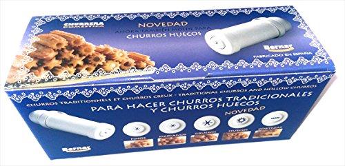 Churrera de plástico marca Bernar - presión a rosca - (Blanco)