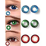 Soft Eye® 3 Pair Blue, Green & Red contact lens