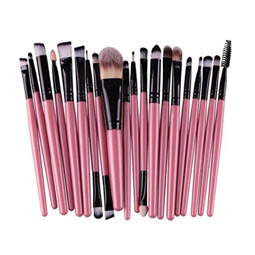 SHOBDW Pinceaux Maquillage Cosmétique Professionnel Cosmétique Brush Beauté Maquillage Brosse Makeup Brushes Cosmétique Fondation avec Sac Abordable, 20pcs Set/Kit Noir Violet (Noir)