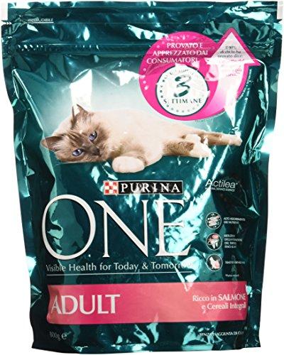 Purina One Bifensis Crocchette peri il Gatto Adulto, Ricco in Salmone e Cereali Integrali, 800 g