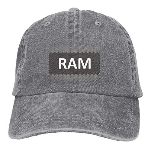 Cowboy Hat Ram Chip Denim Skull Cap Baseball Cowgirl Sport Hats for Men Women -