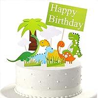 Décorations de gâteau de dinosaures, 11 pièces décorations de gâteau de famille de dinosaures pour la fête d…