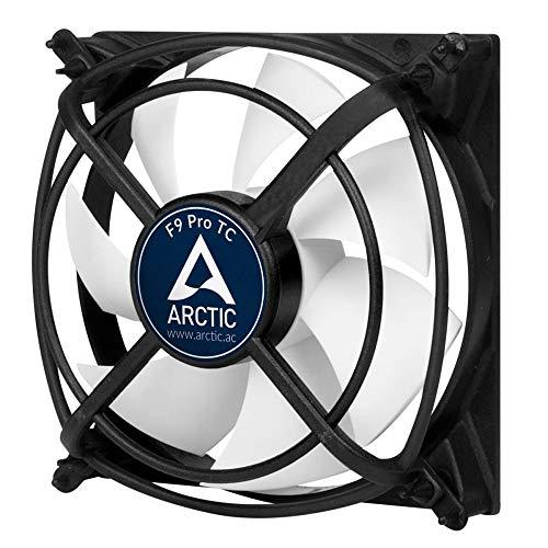 ARCTIC F9 Pro TC - 90 mm, Ventilateur Haute Performance, Ventilateur Boitier, Refroidisseur Silencieux pour Unité Centrale, Support Anti-Vibration, Contrôle par la Température, 500-2000 RPM