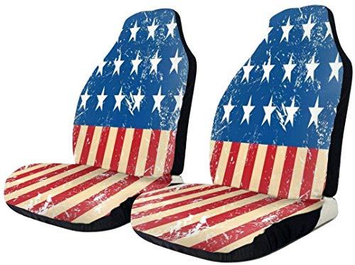 USA bandiera retrò vintage coprisedile auto impermeabile resistente seggiolino auto protezione universale confortevole seggiolino auto pad tappetini in poliestere cuscino a secco rapido