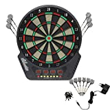 Forever Speed Elektronische Dartscheibe LCD Dartboard Dartspiel Dart inkl.6 Pfeile Dart Scheibe mit Dartpfeile Netzadapter für 1-16 Spieler,Unisex Erwachsene