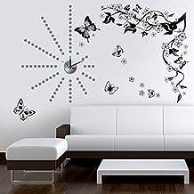 Walplus - Stickers decalcabili da parete con motivo a farfalle e pois