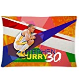 2015 New Design Size 20x30 Two Sides Print 2015 MVP Stephen Curry NO.30 Cool Pictures Pillowcases for kids