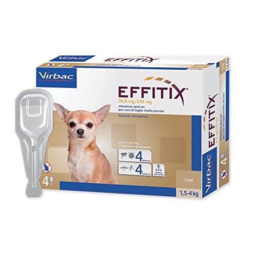 EFFITIX TOY (1,5-4 kg) - Efficace antiparassitario per cani contro pulci, zecche e flebotomi