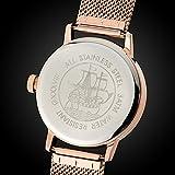 Gigandet Quarz Damen-Armbanduhr Minimalism Multifunktion Uhr Datum Analog Edelstahlarmband Rotgold Silber G38-008 - 5