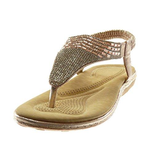 Cinturino Lucide Gioielli Piatto Angkorly Donna Rosa Tacco Strass 5 Tacco Scarpe Cinturino Infradito Slip cm Alla On con Caviglia Moda Sandali 2 xY6qwTOgY