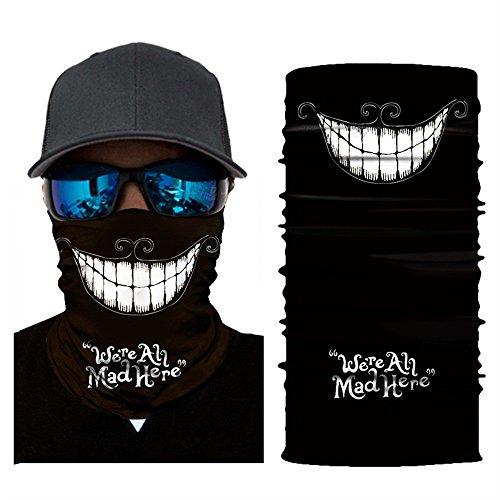 AmyGline Radfahren Motorrad Kopftuch Halswärmer Gesichtsmaske Ski Balaclava Stirnband Weihnachten Halloween ()