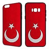 Handyhülle Flaggen iPhone Silikon Deutschland Frankreich Russland Türkei WM, Handymodell:Apple iPhone 6 / 6S, Hüllendesign:Design 2 | Silikon Schwarz