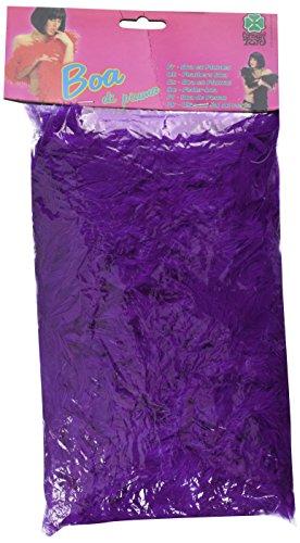 Carnival 08225 - Boa di Piume Lusso Viola in Busta con Cavallotto, 180 cm, circa 55/60 gr.