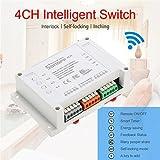 Lifesongs Sonoff 4CH Smart Wifi Schalter 4-Gang 4-Wege-Funkschalter Din Rail Montage Hausautomation an/aus Fernbedienung 10A / 2200W