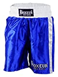 BOXEUR DES RUES - Pantaloncini da Boxe Blu con Bande Laterali, Uomo