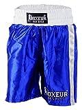 BOXEUR DES RUES Fight Activewear, Short da Boxe Classici Uomo, Blu, L