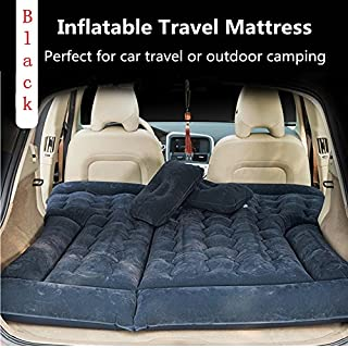 ANTFEES SUV Car Travel 4/6 Split Inflatable Mattress Truck Air Bed for SUV Trunk Air Bed Back Seat(Black)
