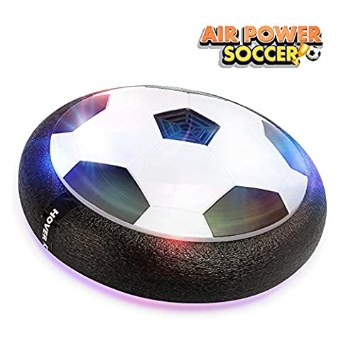 Betheaces Air Hover Ball Toys Power Soccer Glide Base, Soft Foam Floating Ball Game Toys Training Football Indoor Outdoor Disk Hover Ball Fun Game with Foam Bumpers and LED Lights Perfect for Kids Adults