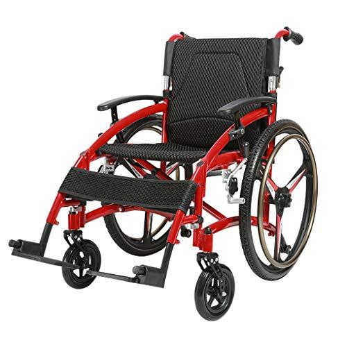 JPLUNYI Rollstuhl Faltrollstuhl Sitzbreite 44 cm Reiserollstuhl Transportrollstuhl Belastbarkeit 200 kg Mit Armlehnen Geeignet für ältere Menschen mit Behinderungen