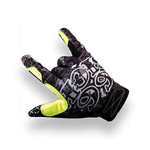 66sick Handschuh Sicky Fingers   1501   Farbe: Gelb   Größe: Medium   Gummitextur   Klettverschlus   Doppelnähte   Stretchmaterial Zwischen Den Fingern   Einsatzbereiche: MTB/BMX / MX/Motocross