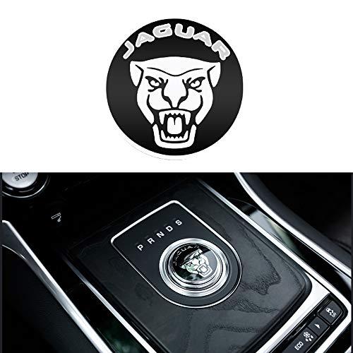 YYD Auto-Innendekoration-Ordnungs-Schaltknauf-Abdeckungsdekoration, Autozubehör für Jaguar,Zincalloyblack