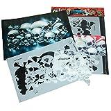 """Perfekte Airbrush Schablonen Skulls leicht gemacht: FIELD OF SKULLS Vol. 01 (""""THE HATEFUL 12""""), Größe ca. A4, Single-/QuickStep EZ SkullMaker ArtShield®"""