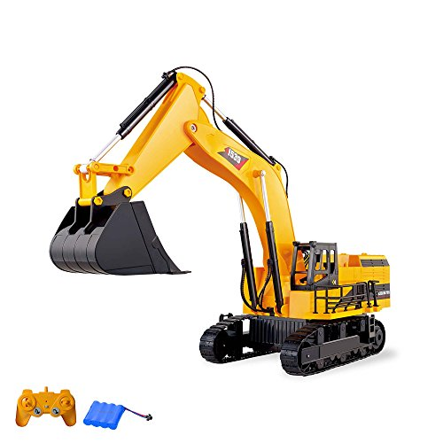 HSP Himoto XXL RC Ferngesteuerter Raupenbagger Baustellenfahrzeug, Modellbau, Komplett-Set inkl. Akku und Ladegerät
