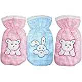 Kidzvilla New Born Baby Feeding Bottle Cover Cotton Fabric Cheks Print Pack Of 3 Pcs. Flat For 220 To 250 Ml Bottle Printed Bottle Cover Baby Bottle Cover Set Feeder Cover New Born Baby Fancy Bottle Cover Feeder Cover Nursing Cover Glass Bottle Cover Colo