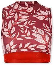 KCA-LAB Damen Nachhaltig Kurzes Workout Top aus recyceltem Material für Frauen Stehkragen Cut Outs am Rücken Y