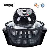 Geepas 1400W Turbo Halogen Oven 12 litres with Accessories Pack Serves Complete Meals
