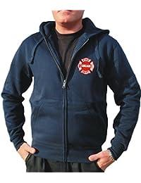 Survêtement à capuche bleu marine, emblème Chicago Fire Department poitrine
