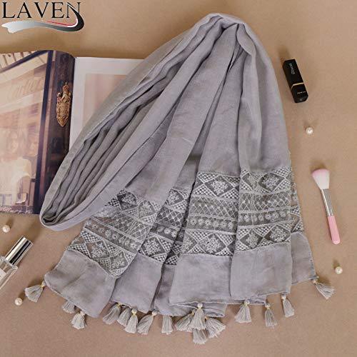 Hmeili Schal Ethnischen Kostüm Krawatte Gefärbt Weibliche Nähte Spitze Elegante Quaste Kopf Bs529