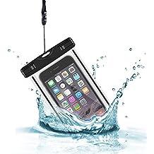 Hosaire Funda Impermeable IPX8 Universal para deportes acuaticos para iPhone 6 Plus, 6 , 5, 5G, 4, 4S, 3G, 3GS / Samsung Galaxy S6, S5, S4, S4 , S4 Mini, S3, S3 Mini, S2 , Galaxy Note 4, Note 3, Note 2, Note , Sony Xperia Z4, Z3 ,Z2 ,Z1, LG G3, LG G2 (Negro)