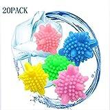 LTOOLA Wäsche Ball Starke Dekontamination Anti-Wickel Schutz Ball Magic Dekontaminierung Haushalt 20 Packung