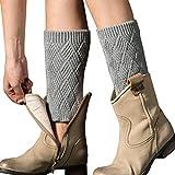 Vellette calentador de pierna Mujer calcetines de punto elástico cubierta de boot Calentadores de pierna