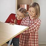 Kettler Kinderschreibtisch Cool Top I - Farbe: holzfarben (Buche) und silber - Schülerschreibtisch MADE IN GERMANY - hochwertiger Schreibtisch Kinder - flexibel einstellbar – Artikelnummer: 06622-272 - 2