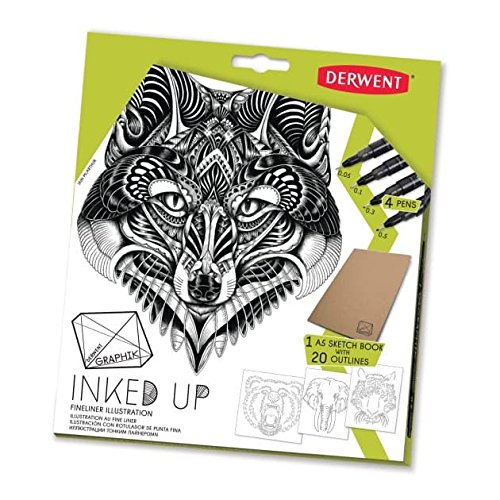 graphik-inked-up-set-contains-4x-pens-1-x-a5-pad-with-20-outlines