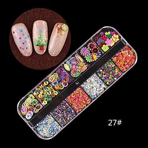 Chonor 3D Brillantini Nail Art Strass Glitter Unghie Perline di Cristallo Multicolore Borchie per Unghie Strass di Cavallo Occhio per la Decorazione d'Unghie #27