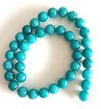 Filone di perline Jade in der Colore Petrolio diametro 10 mm fai da te