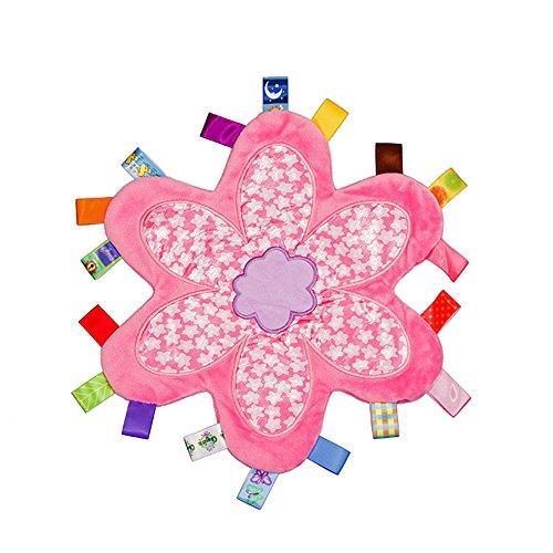 Personalisierte bunte taggy Sicherheitsdecke Andenken neugeborenes Baby Mädchen ideal bestellte Geschenk voraus