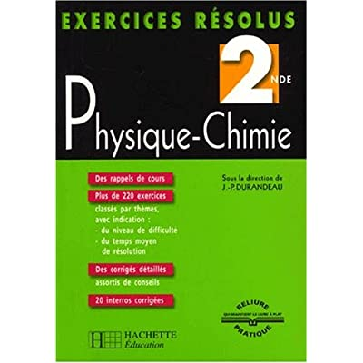 Exercices Resolus Physique Chimie 2nde Pdf Complete Jarrodlayne